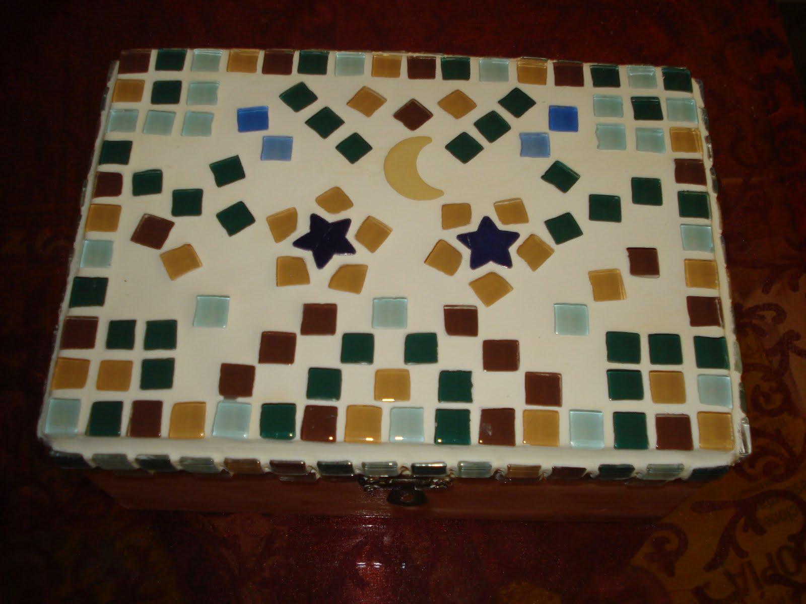 El corralito de piraeus caja de madera con mosaicos - Mosaico de madera ...