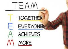 The word team can be described as the following four words: Together everyone achieves More.