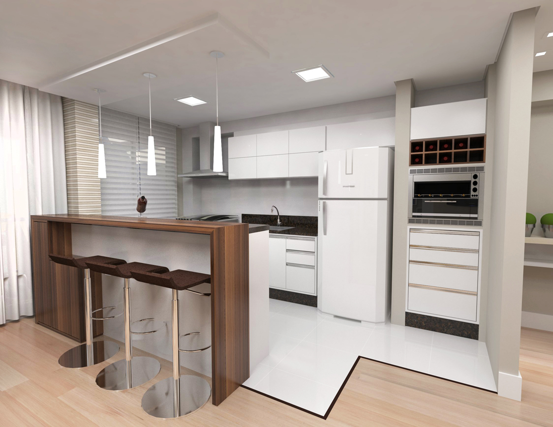 projeto para apartamento compacto cozinha projeto para apartamento  #495E1C 1100 849