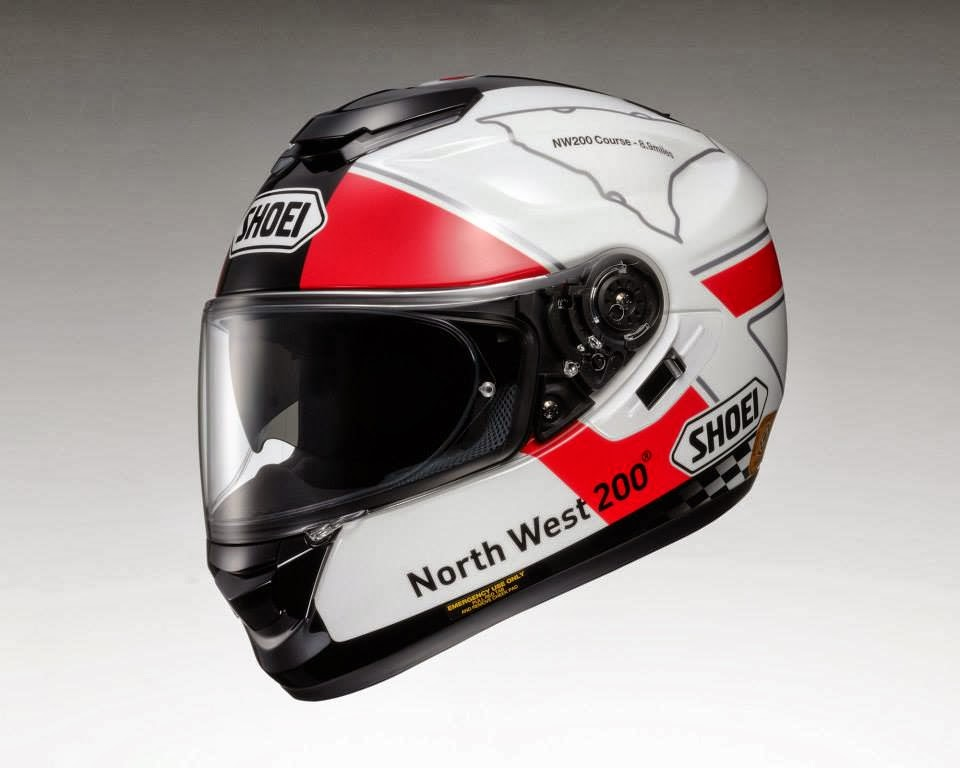 racing helmets garage shoei gt air north west 200 tribute. Black Bedroom Furniture Sets. Home Design Ideas