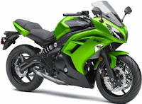 2012 Kawasaki ninja 650 green