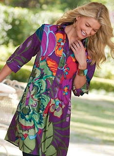 tropical tall tunic
