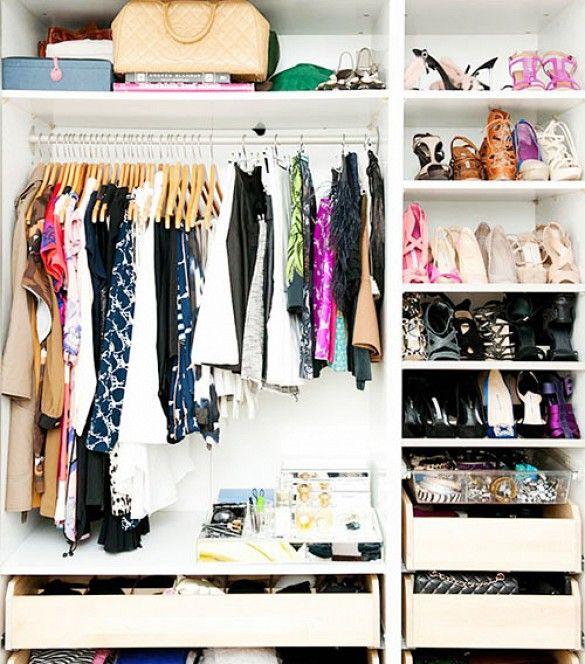 organize closet donate clothes