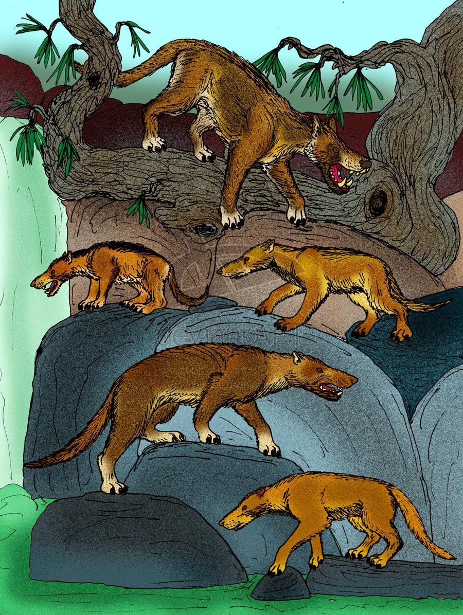 Un enorme animale preistorico l'Ankalagon saurognathus