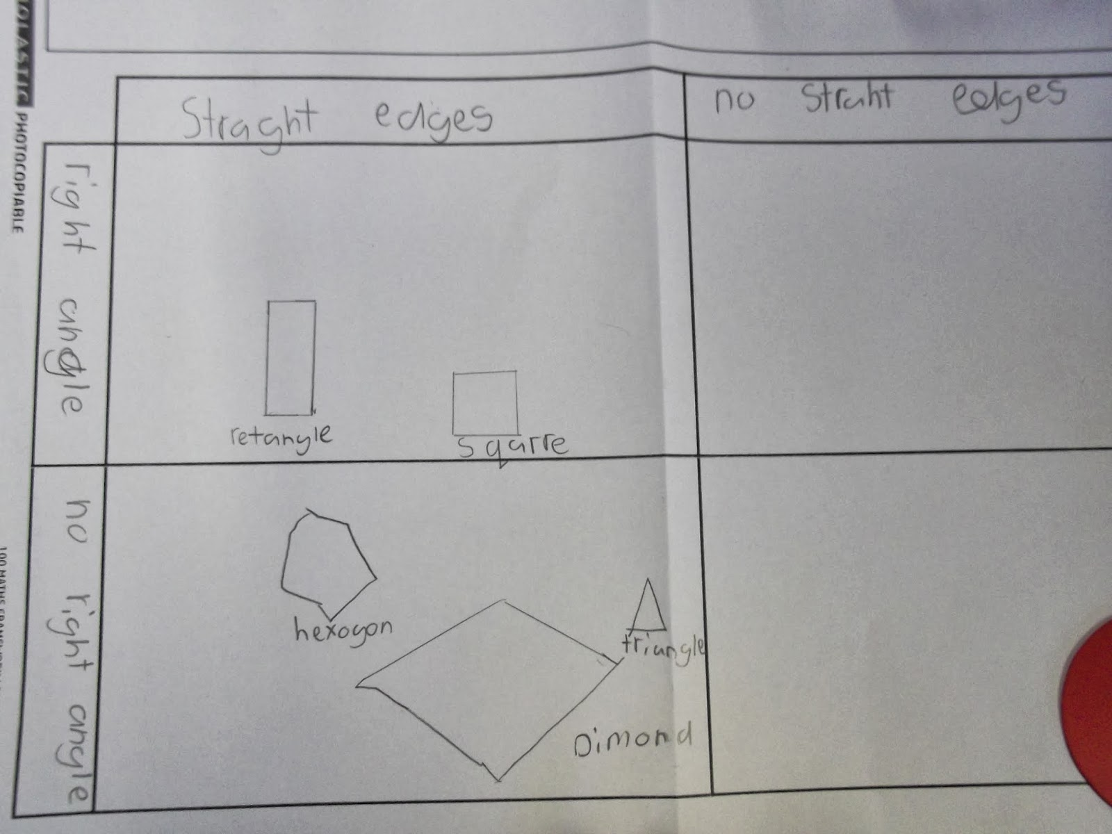 Year 3 Holy Souls Catholic Primary School  Sorting 2d Shapes