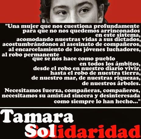 Tamara Sol Farías Vergara - COMPAÑERA TAMARA SOL FARÍAS VERGARA ¡TE QUEREMOS INDÓMITAMENTE LIBRE!