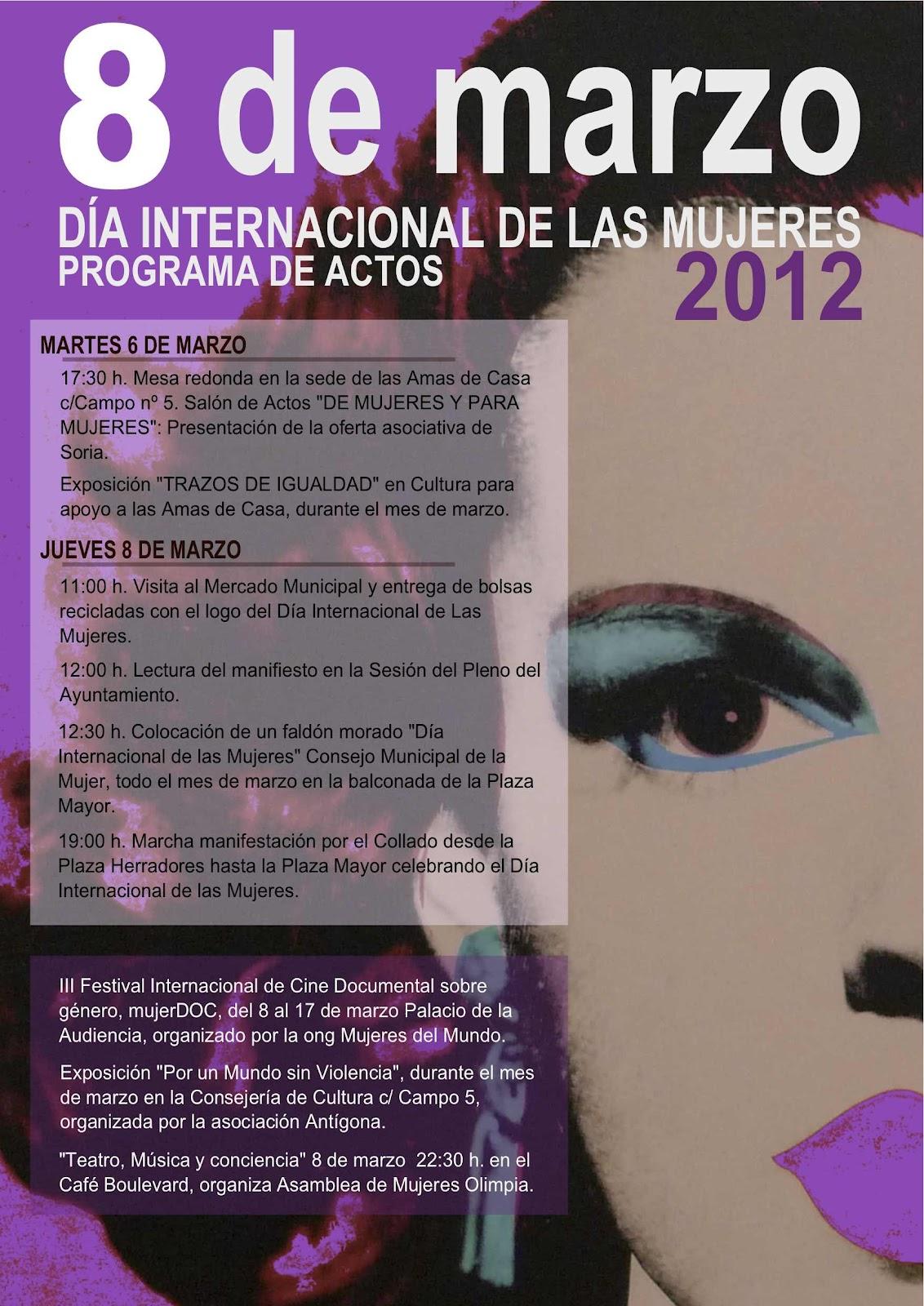 Feliz 8 de marzo dia internacional de la mujer Cartel+8+Marzo