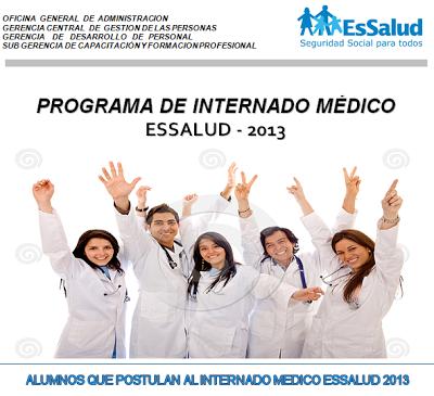 Resultados del Examen del Programa de Internado Médico en EsSalud