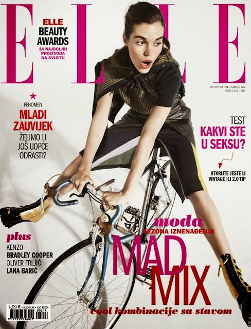 Britt Bergmeister Photos from Elle Croatia Magazine Cover February 2014 HQ Scans