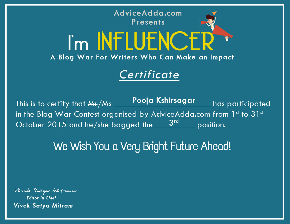 I'm Influencer Blog War Winner
