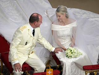 vestido de casamento de charlene Wittstock Mónaco, wedding dress