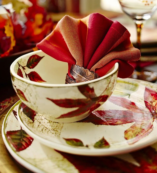 & The Daily Find: Pier 1 Asheville Fall Leaf Dinnerware