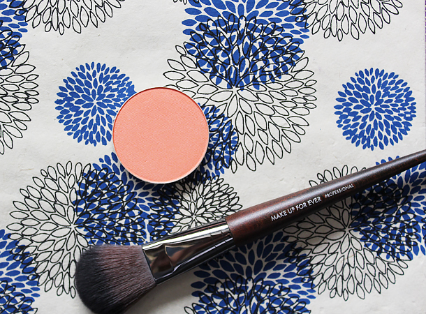 mac modern mandarin blush review swatch nc30