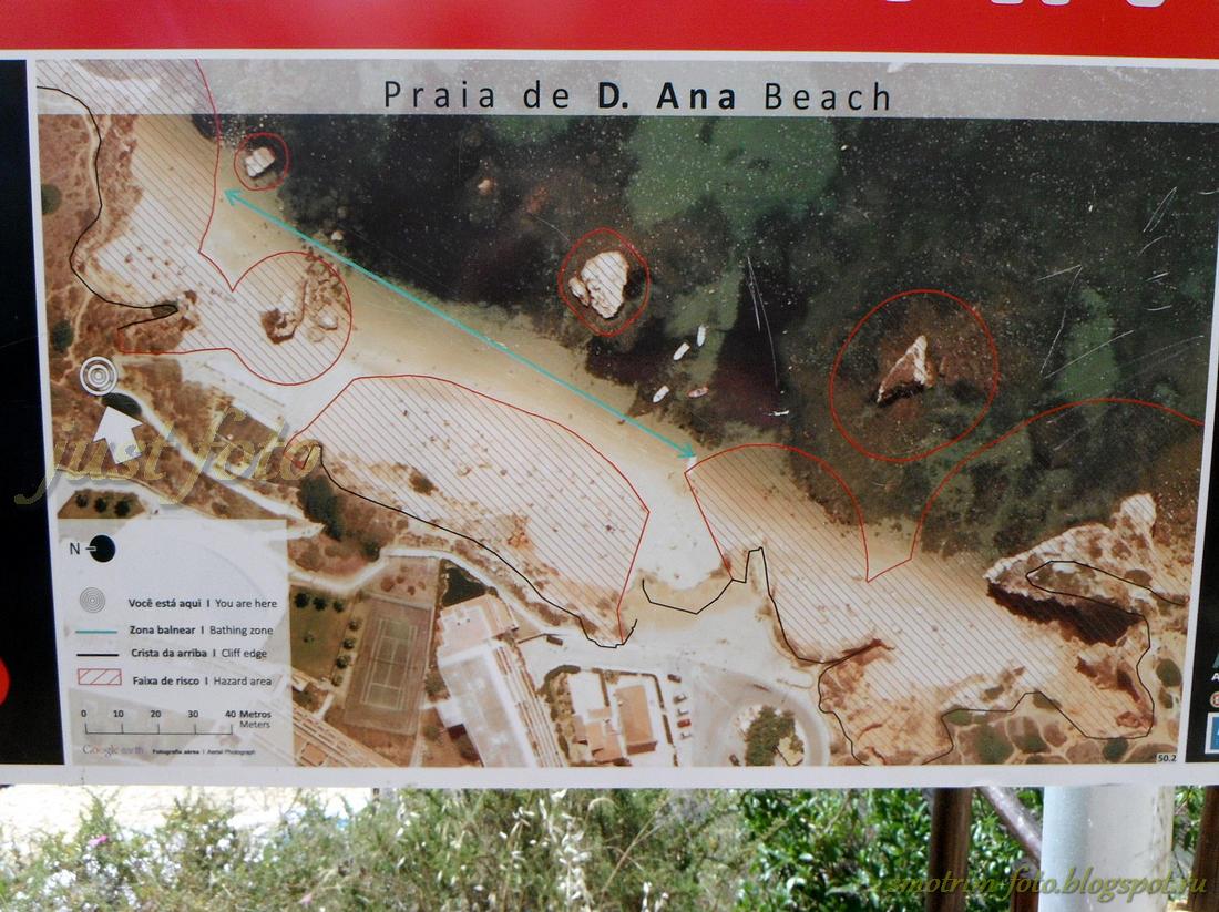Пляжи Алгарве, карта фото