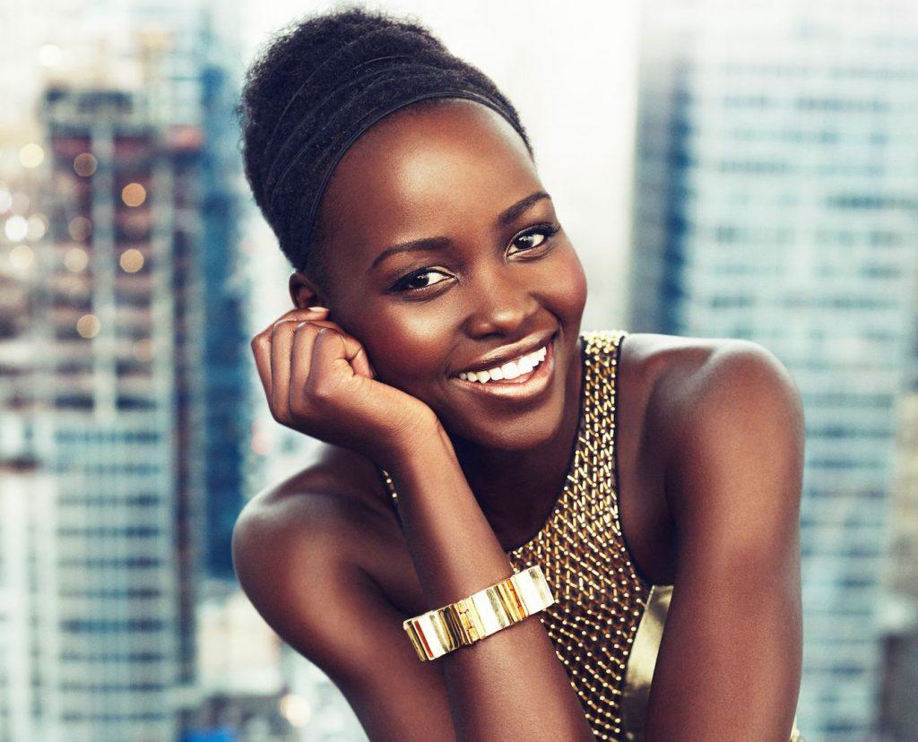 Fashion week Nyongo lupita teaches kids about skin for girls