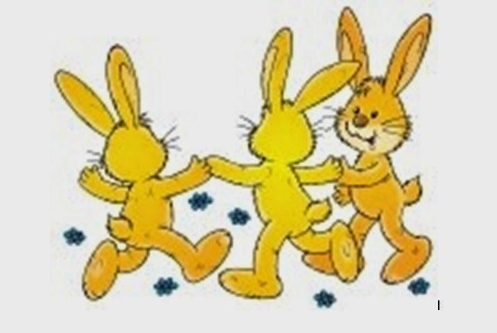 Versos con rimas para niños y niñas: Tres conejos
