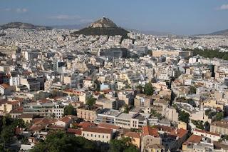 Vista de la ciudad de Atenas desde la Acrópolis, Grecia