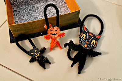 Pipe cleaner Halloween ornaments