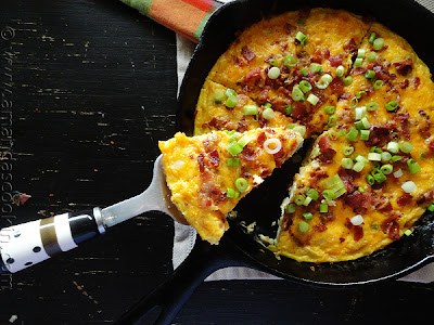 Egg, cheese, breakfast, potato, frittata, brunch, recipe