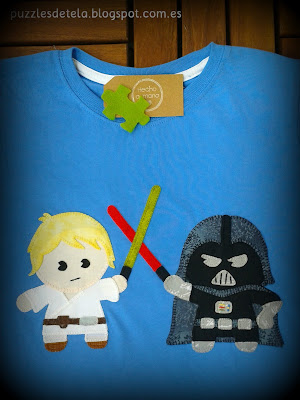 Star Wars, Camiseta de Star Wars, la guerra de las galaxias, Darth Vader,  T-shirt Star Wars, Patchwork, Camisetas patchwork, Camisetas patchwork Star Wars, Luke Skywalker, T-shirt patchwork, handmade, hecho con amor, Salón del cómic