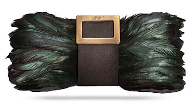 Roger Vivier Pilgrim Crow Clutch