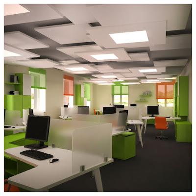 Дизайн проект офисного этажа АБК завода