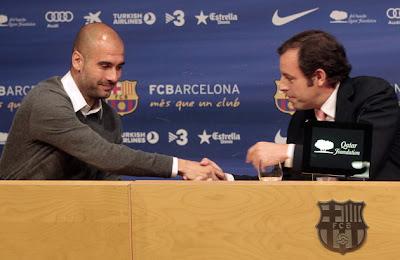 Técnico Guardiola deixará Barcelona