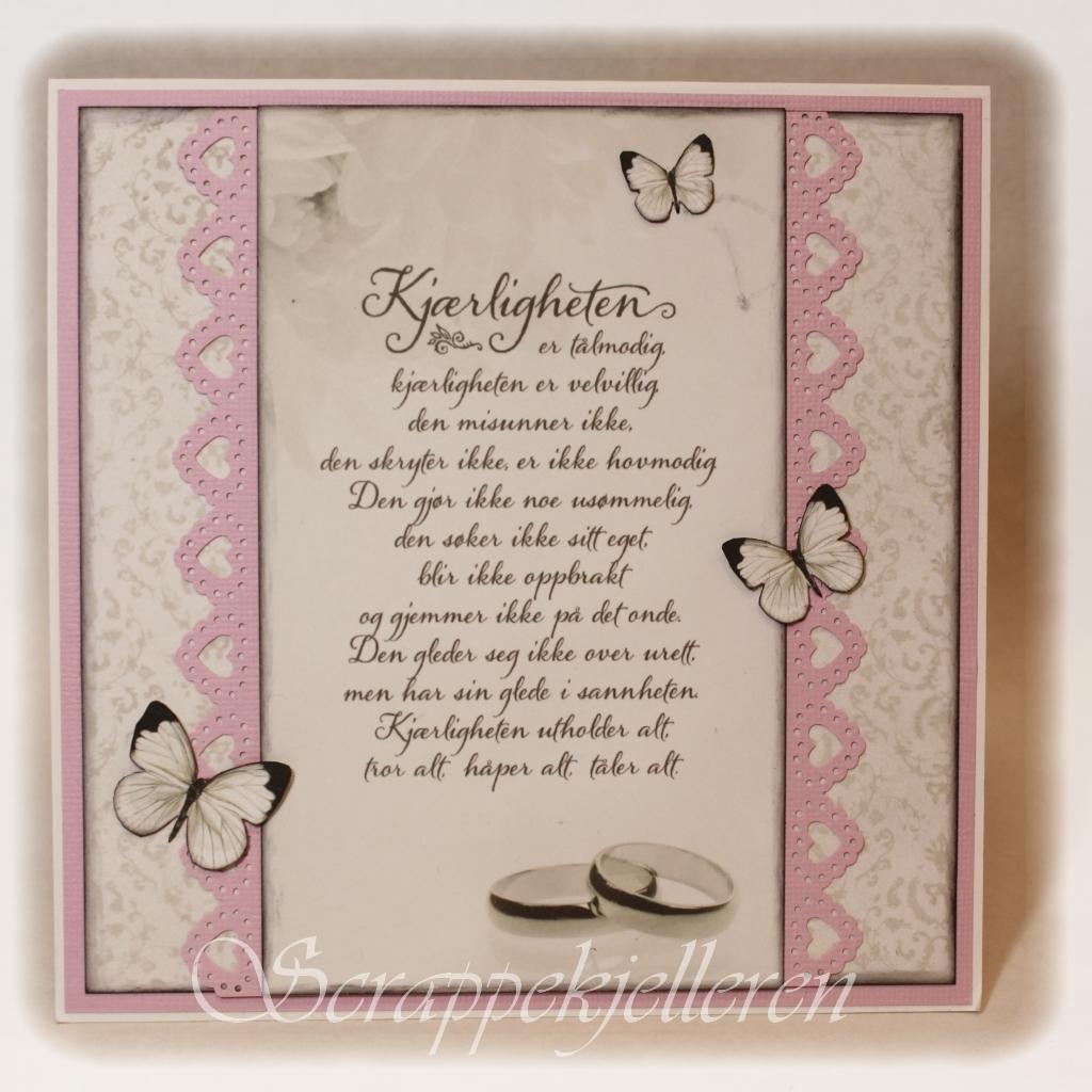 hva skriver man på bryllupskort haugesund