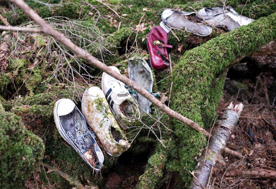 benda dari mayat di hutan Aokigahara