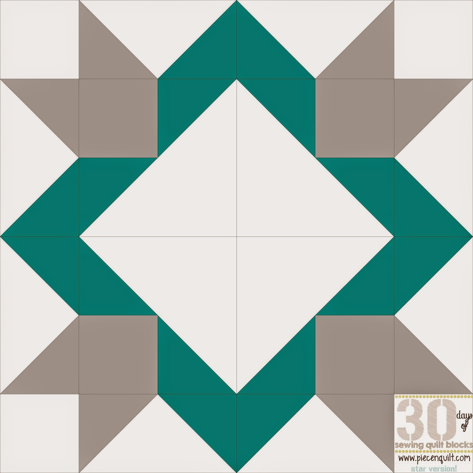 Log Cabin Quilt Block 12 Inch
