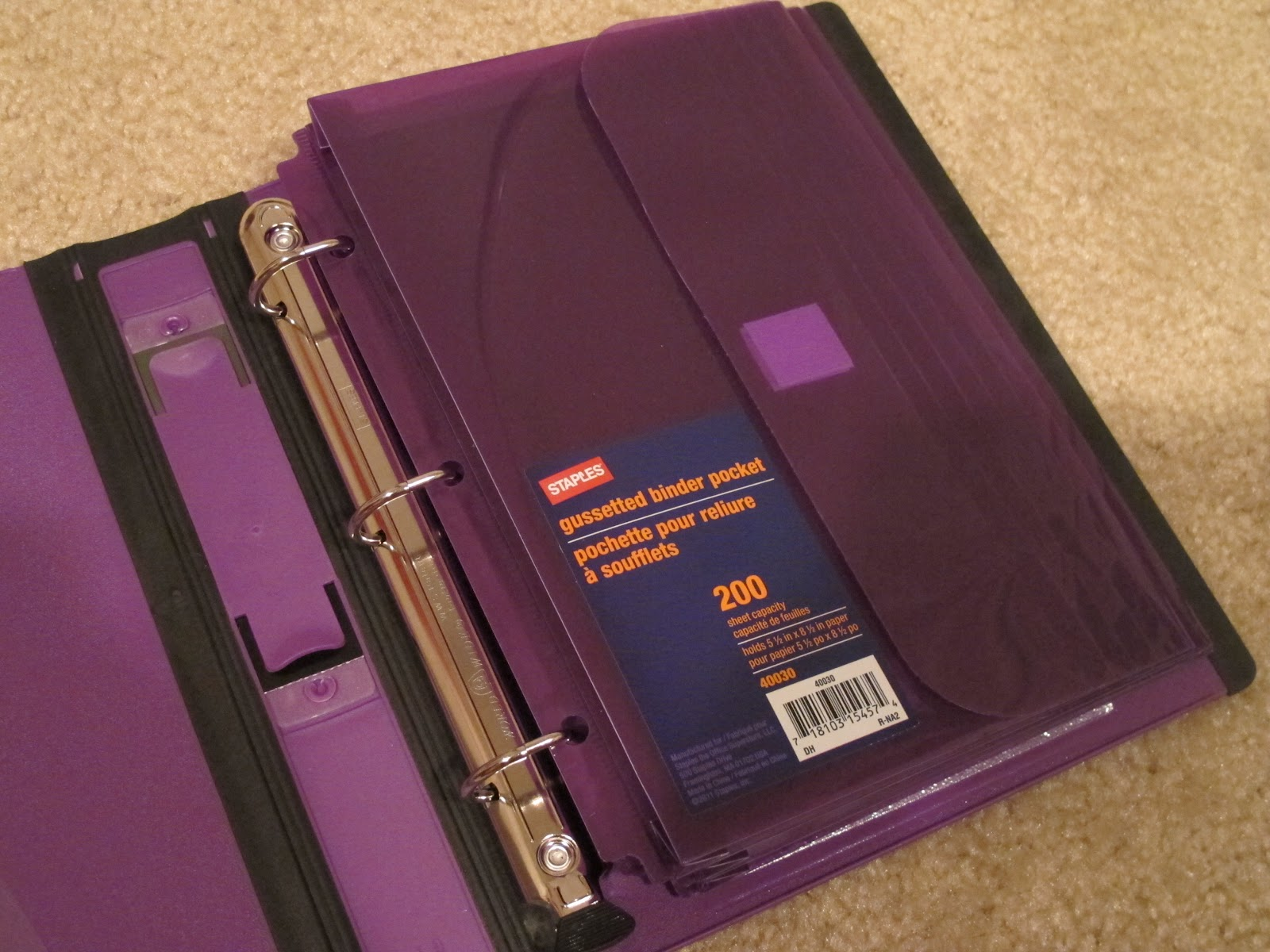 mini binders staples