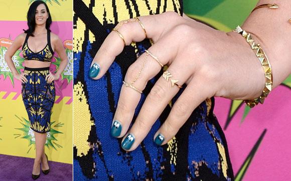 Unha Decorada da Katy Perry no Kids Choice Awards 2013