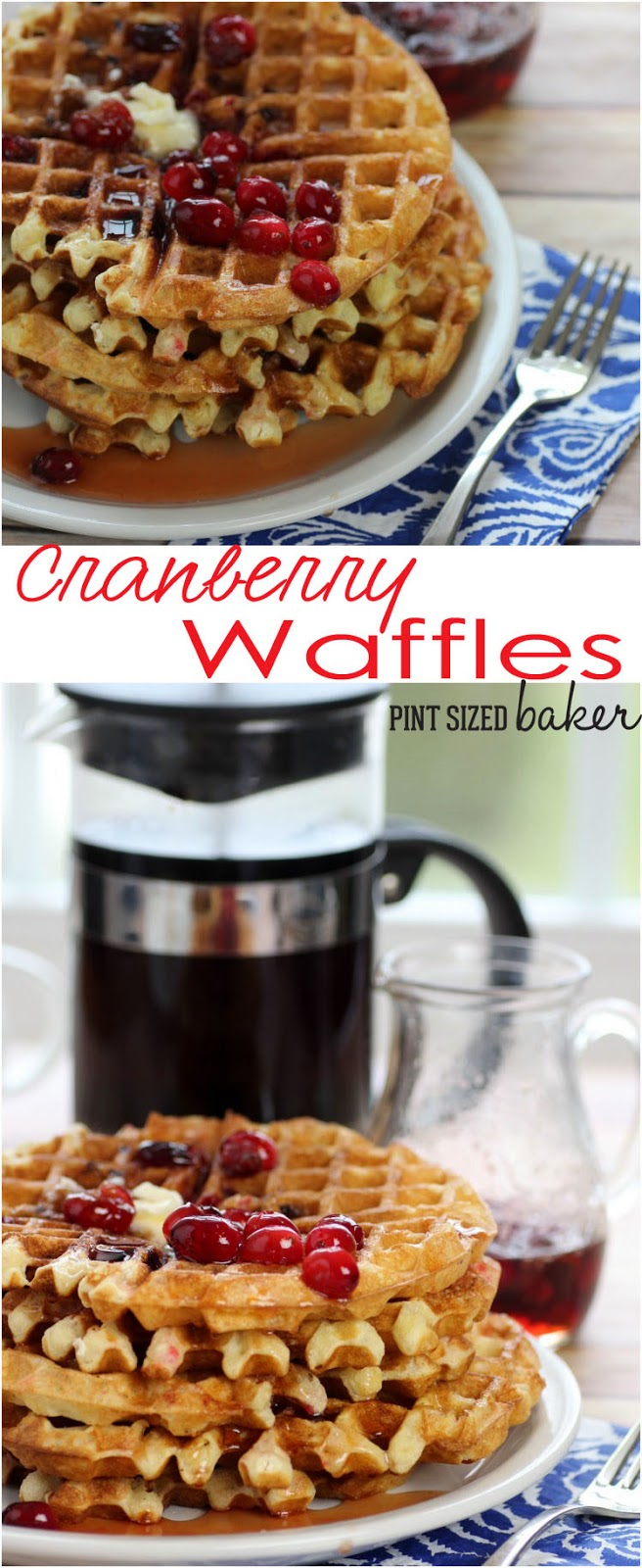 "The whole family will love these fresh seasonal Cranberry Waffles for brunch! I""m making some this weekend!"