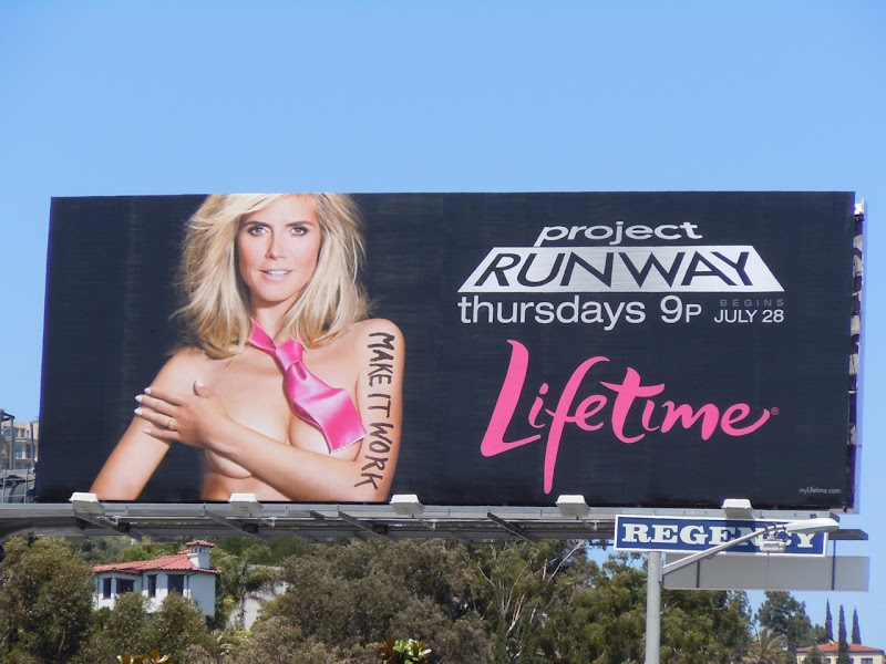 Project Runway 9 Heidi Klum billboard