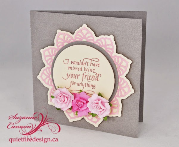 Style floral motif card and i wouldn t have missed being your friend