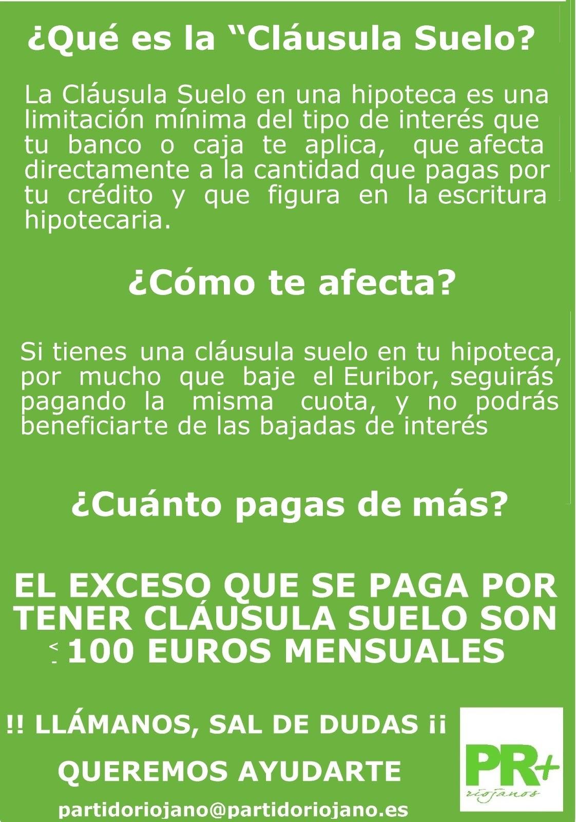 Riojanos como t tienes clausula suelo en tu hipoteca for Clausula suelo mayo 2013