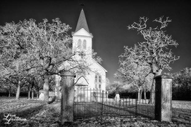 Saints Peter and Paul Catholic Church, Kovar, Texas. Infrared. Lisa on Location photography, New Braunfels, Austin, San Antonio, San Marcos. 365 photo project