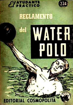 Cover of a water polo rule book printed in argentina in 1955