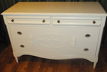 Antique Knetchel chest of drawers, painted antique white