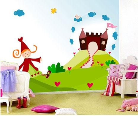 Decorar el cuarto infantil con murales bebes y embarazo - Dibujo pared habitacion infantil ...