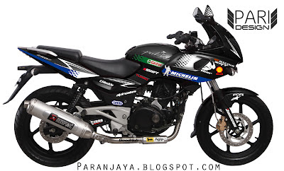 Bajaj Pulsar Black 220F Sticker Mod ~ Paranjaya's Blog
