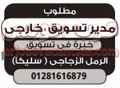 وظائف خالية فى القاهرة مدير تسويق خارجي