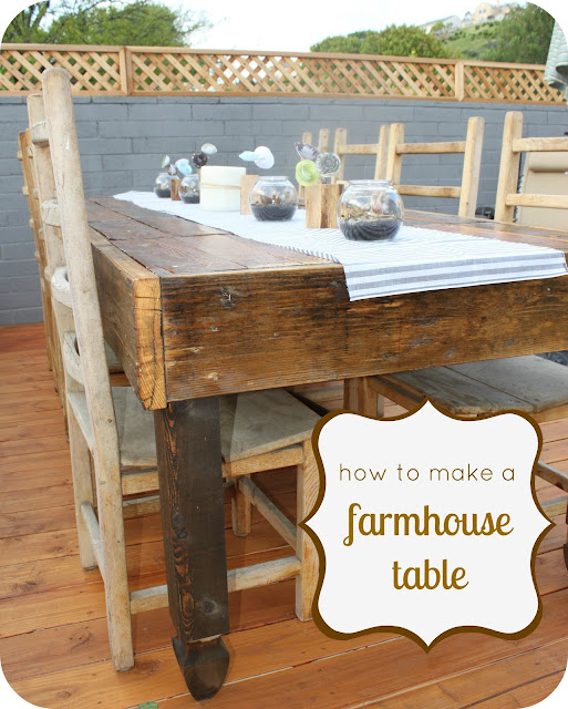Look what jeff did diy farmhouse table for Diy outdoor farmhouse table