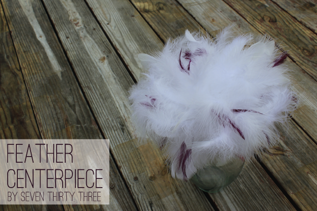 DIY Feather Centerpiece