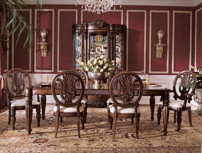 great art decoration wooden dining room design