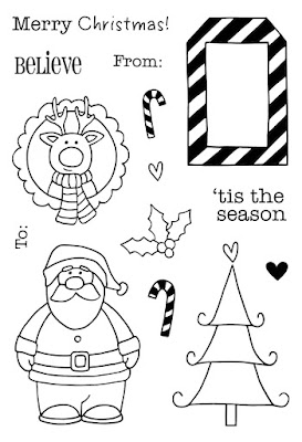 SRM Stickers Blog - Christmas in July by Annette - #card #tag #christmas #fancysentiments #stickers #die #janesdoodles #tistheseason #twine