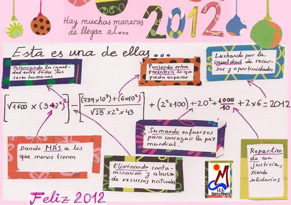 Matemáticas Elaios 3º ESO: Felicitaciones matemáticas