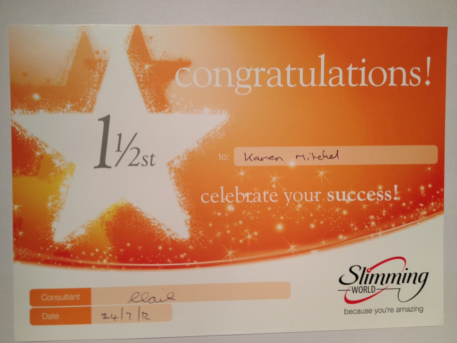 The slimming world files my awards How to lose weight on slimming world