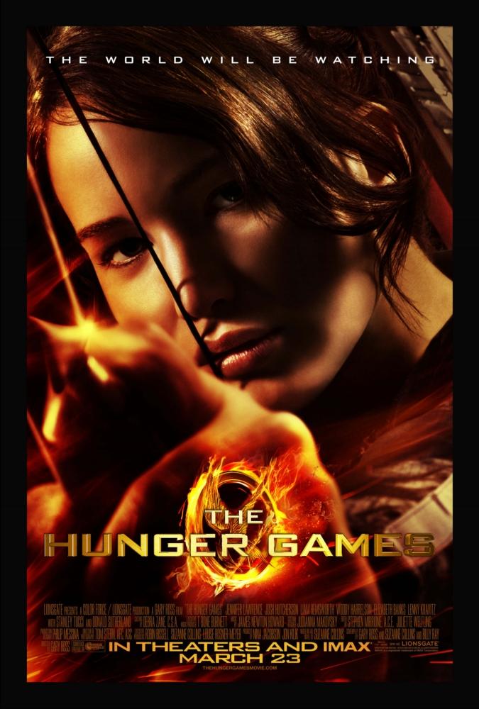 Portada de la película The Hunger Games (Los Juegos del Hambre)
