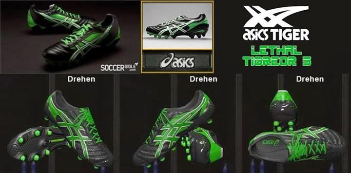 PES 2014 Asics Lethal Tigreor 5 - Black/Green/White